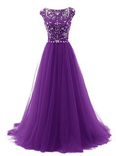Marryou Women's Beaded Scoop Long Tulle Formal Prom Gown ... https://www.amazon.com/dp/B01H5JTS8S/ref=cm_sw_r_pi_dp_rLOzxb8GG66PK