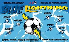 Lightning-Blue-45758  digitally printed vinyl soccer sports team banner. Made in the USA and shipped fast by BannersUSA. www.bannersusa.com