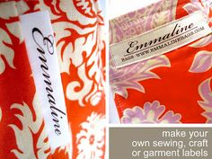 Make Your Own Printed Fabric Craft or Sewing Labels - Emmaline Bags: Sewing Patterns and Purse Supplies