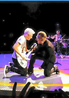 Adam and Bono Best Rock Bands, Rock And Roll Bands, Cool Bands, Rock N Roll, U2 Music, Rock Music, U2 Show, U2 Live, Zoo Station