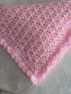Baby Snuggle Blanket, Pink Baby Blanket, Soft Baby Blankets, Afghan Blanket, Baby Afghan Patterns, Crochet Baby Blanket Free Pattern, Crochet Blanket Patterns, Easy Patterns, Free Crochet