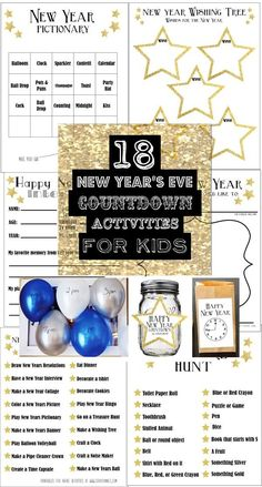 New Year's Eve Countdown Activities for Kids - SohoSonnet Creative Living - New Years Party New Years With Kids, Kids New Years Eve, Happy New Years Eve, New Years Party, New Years Eve Party Ideas For Family, Countdown For Kids, New Year's Eve Countdown, New Year's Eve Celebrations, New Year Celebration