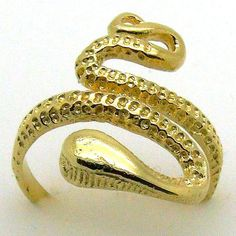 Snake Ring DESERT SNAKE Plating 18K Yellow Gold Ring by YonitYonit, $43.00