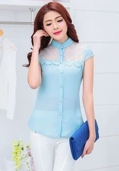 If you like blouses as much as me, you'll love this. Simple Formal Dresses, Sewing Lace, Jean Top, Professional Women, Korean Fashion, Black Tops, Designer Dresses, Blouses, My Style