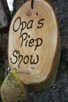 Ein bisschen Erotik für Opa....♥ Männergeschenk Opa´s Piep Show♥♥ von Holz- Kreativ auf DaWanda.com: