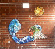 Outdoor Collage Collagen, Hanukkah, Wreaths, Outdoor Decor, Home Decor, Wave, The Moon, Outdoor, Stones