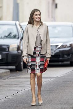 Royals & Fashion - Queen Letizia attended a working meeting with the Spanish Confederation of Mental Health in Madrid.