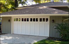 White Garage Door Windows : Distinctive Garage Door Windows