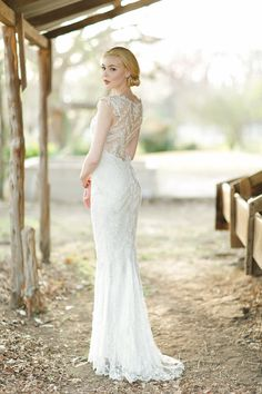 3f24f318db0 Claire Pettibone Chantilly wedding dress with beaded embroidered tulle  illusion low back.  clairepettibone