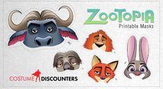 Zootopia printable masks