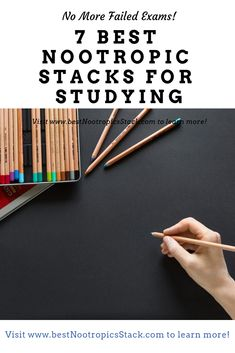 The best nootropics stack for studying should give you enough brainpower to endure long exam reviews and the pressure of having high grades. Our 7 best nootropic stacks for study will help you to get a perfect grade in your test. #nootropics #exams #study #nootropicstack