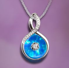 Beautiful in blue: Galatea Illusia pendant, Style A11.