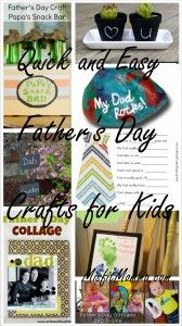 Quick and Easy Father's Day Crafts for Kids