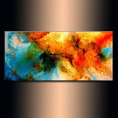 Original Modern Abstract Painting Canvas art by newwaveartgallery, $675.00