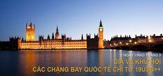 Mua vé máy bay siêu khuyến mãi 5 ngày vàng tháng 9 của Vietnam airlines, đi Bangkok giá từ 19usd, đi London giá 299usd và còn nhiều đường bay khuyến mại nữa nhé