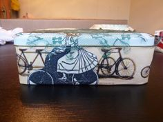 Decorated up-cycled tin Simple Things, Tin, Lunch Box, Crafty, How To Make, Decor, Decoration, Pewter, Bento Box