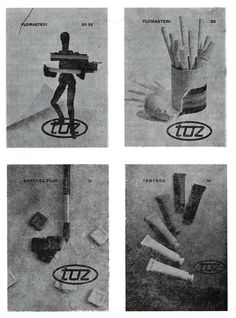 An excellent example of design Ozeha's experts: catalogue for Zagreb pencil factory TOZ Penkala, unknown year. Authors: B. Veronek, D. Bekar, J. Kopač. The picture from the book Promotion activities, prof. dr. J. Sudar, Zagreb, 1984