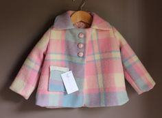 $65 fully lined wool jacket - by BlissbyJackieMaree on madeit. Upcycled woollen blanket!