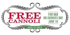 Free Food on Father's Day at Buca di Beppo Restaurant