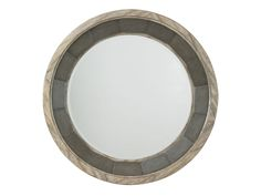 Twilight Bay Juliette Mirror with Hammered Stainless Steel Accents and Weathered Driftwood Finish
