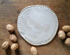 speckled plate dia.12 cm ceramics by LUKKILI on Etsy