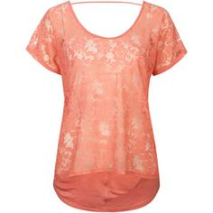 FULL TILT Essential Lace Front Womens Tee          $15.99