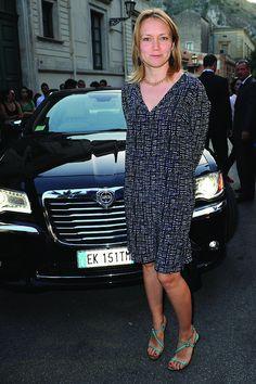Elena Bouryka arriva alla giornata di chiusura del Taormina Film Fest 2013.