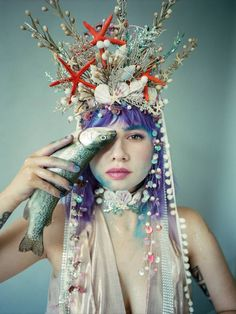 Last mermaid photography by and our set of haircrown and choker necklace from shells 🤗❤ . Scrapbook Journal, Travel Scrapbook, Fantasy Photography, Color Photography, Mermaid Headpiece, Beautiful Fairies, Buy Art, Paper Art, Saatchi Art