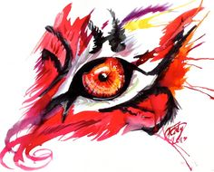 Red Tiger Eye by Lucky978.deviantart.com on @deviantART