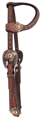 Brown Rough Out Leather Headstall - H1075