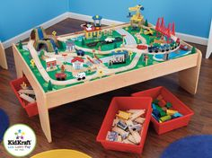 Learning Is Fun With The KidKraft Waterfall Mountain Train Set And Table.  Compatible With Thomas