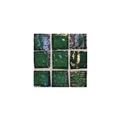 American Olean Solare Glass - SO77 Rainforest - Clear Iridescent Color Glass Tile Mosaic