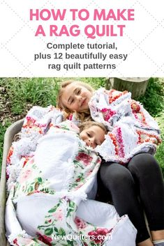 New Pics rag Quilting Ideas You decide to get started on quilting. You can't hang on to try and do a person's spectacular tapestry ma Quilting For Beginners, Quilting Tips, Quilting Projects, Rag Quilt Patterns, Pillow Patterns, Homemade Quilts, Quilt Labels, Book Quilt, Easy Quilts