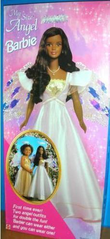 my size angel barbie | 1998 My Size African American Barbie Doll. Como apresentado na ...
