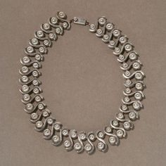 Gallery 925 - Margot de Taxco Sterling Silver Modernist Necklace, Handmade Sterling Silver
