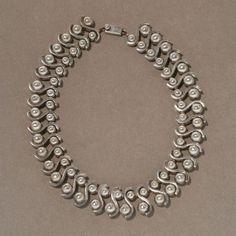 Gallery 925 - Margot de Taxco Sterling Silver Modernist Necklace, Handmade Sterling Silver