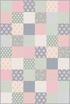 Plaid Tilda rose quilté en Tissu façon Patchwork - Tissu Couture