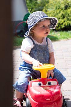 Sophie on a walking cart
