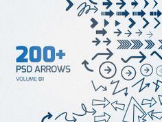 200+ Free Arrows, #Arrow, #Free, #Graphic #Design, #PSD, #Resource, #Vector