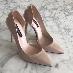 Women High Heels Sandlas Shoe Sites Clear High Heel Shoes Silver Glitter High Heels With Big Discount Lace High Heels, Nude Heels, Womens High Heels, Cream High Heels, Black Heels, Women's Slingback Shoes, Shoes Heels, Pumps, Navy Block Heel Sandals