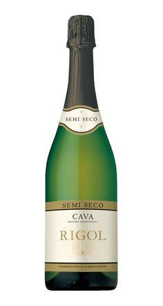 Rigol Semi Seco: スパークリング・白・スペイン・カタルーニャ地方。甘さほのかで飲みやすい。
