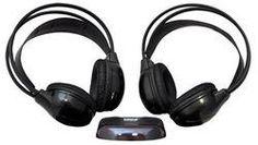 Dual Wireless IR Mobile Video Stereo Headphones w/Transmitter