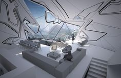 """futuristic Crystal architecture """"Lo Monaco House"""" by Tom Wiscombe Design • inspired by by Romanian-born sculptor Constantin Brâncuși, who carved simplified depictions of human heads and animals, typically reduced to more basic shapes"""