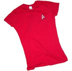 Star Trek (The Original Series) Engineering & Security Red Uniform Crop Sleeve Fitted Juniors T-Shirt, Small Star Trek,http://www.amazon.com/dp/B0026WU8H0/ref=cm_sw_r_pi_dp_6EnXrb6CEE8C4C91