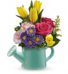 Teleflora's Send a Hug Sunny Spring Bouquet in Oneida NY, Oneida floral & Gifts