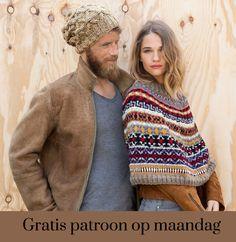 Gratis patroon op maandag - Breipatroon poncho. Ontvang ieder maandag het gratis patroon en een leuke aanbieding van het garen.