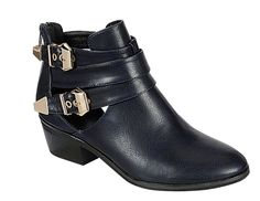 Reneeze-BEAUTY-04-Womens-Buckled-Cut-Out-side-design-Booties-NAVY