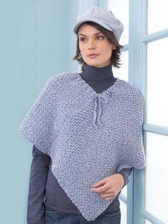Ladies Poncho   Yarn   Free Knitting Patterns   Crochet Patterns   Yarnspirations