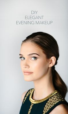 DIY elegant evening makeup perfect for your reception dinner or even for your evening wedding ceremony. #diyweddingmakeup #savemoneyonweddings #minimalistbridemakeup #diyweddingtutorial