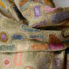 Grande écharpe Sophie Digard toute crochetée main - 100 % lin